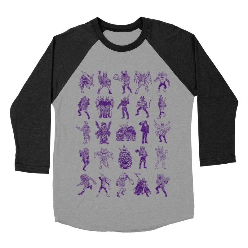 Toku Villains Women's Baseball Triblend Longsleeve T-Shirt by JB Roe Artist Shop