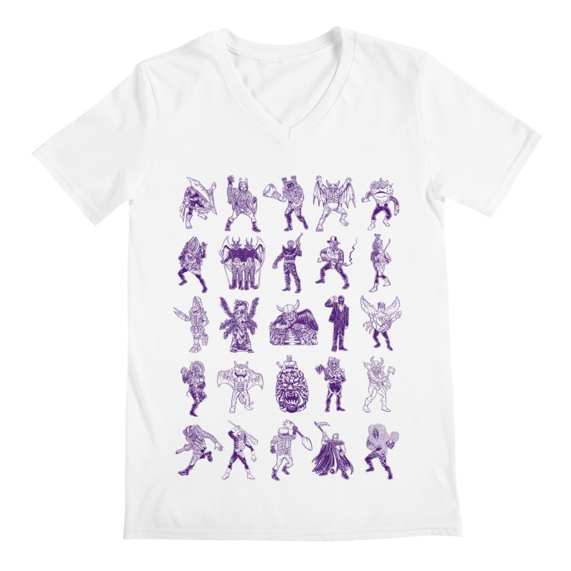 Toku Villains Men's V-Neck by JB Roe Artist Shop
