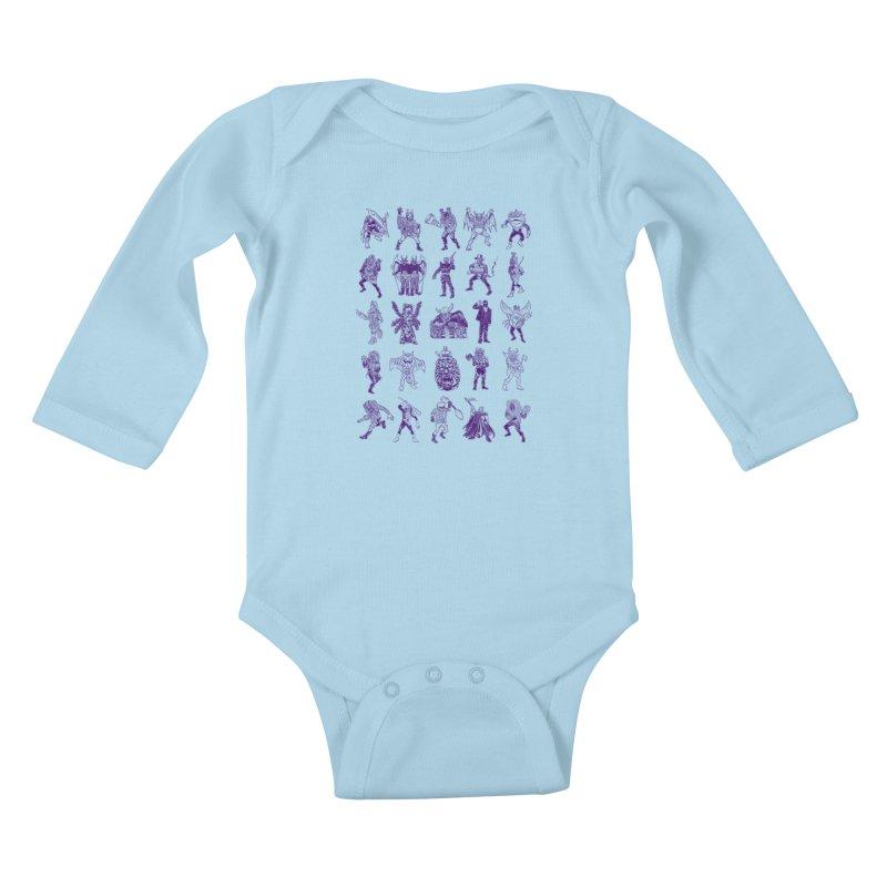 Toku Villains Kids Baby Longsleeve Bodysuit by JB Roe Artist Shop