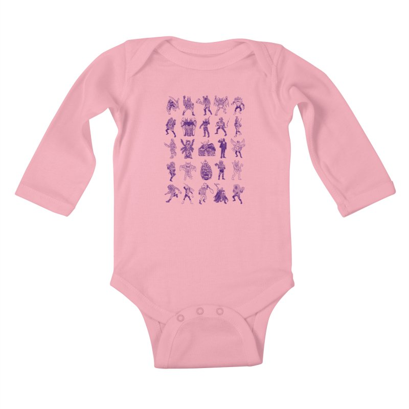 Toku Villains Kids Baby Longsleeve Bodysuit by JB Roe Artist Shop
