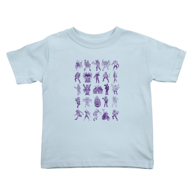 Toku Villains Kids Toddler T-Shirt by JB Roe Artist Shop