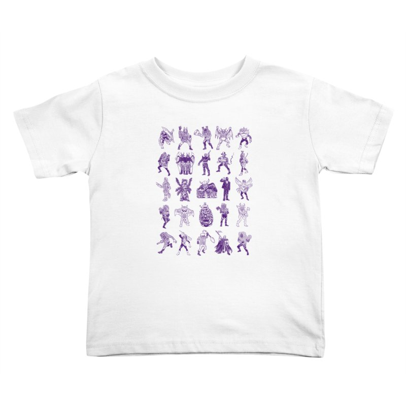 Toku Villains Kids Toddler T-Shirt by JB Roe Artist Shop