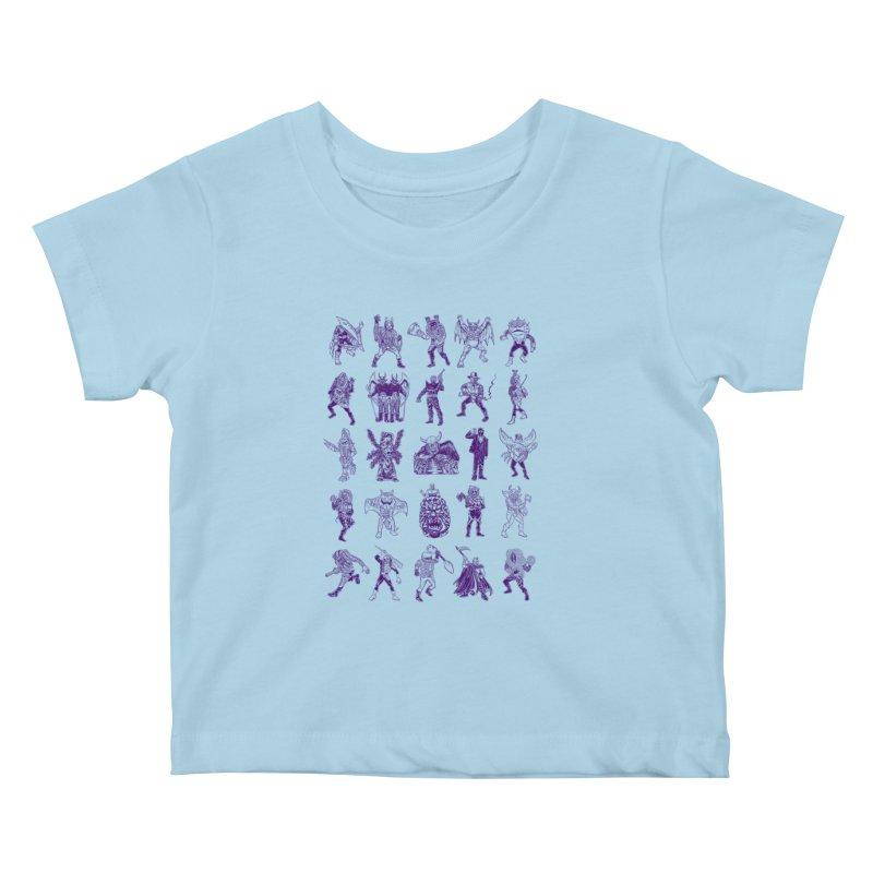Toku Villains Kids Baby T-Shirt by JB Roe Artist Shop