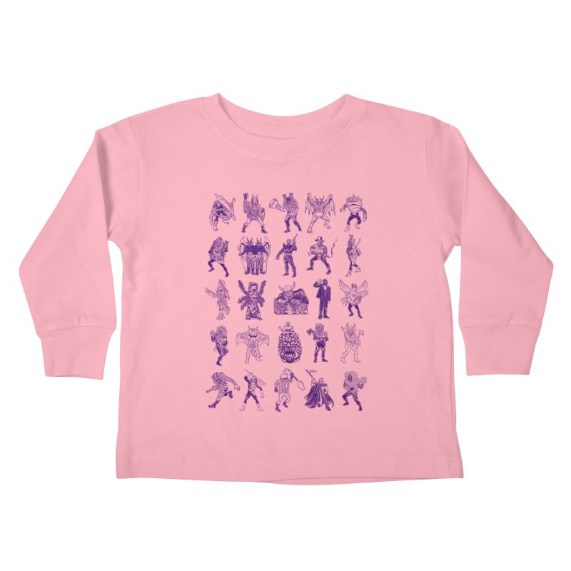 Toku Villains Kids Toddler Longsleeve T-Shirt by JB Roe Artist Shop