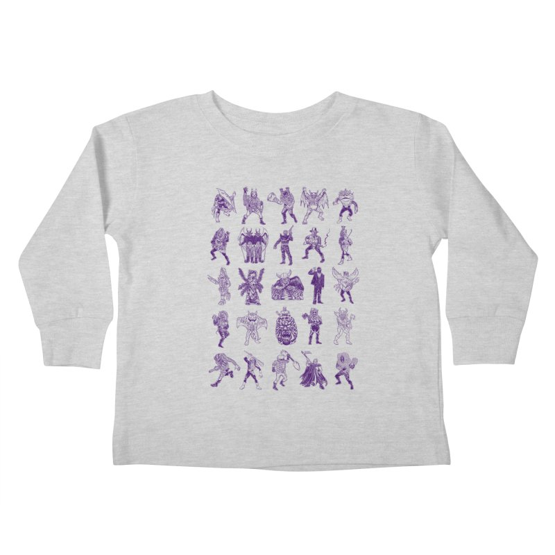 Toku Villains Kids Toddler Longsleeve T-Shirt by JB Roe Artist Shop
