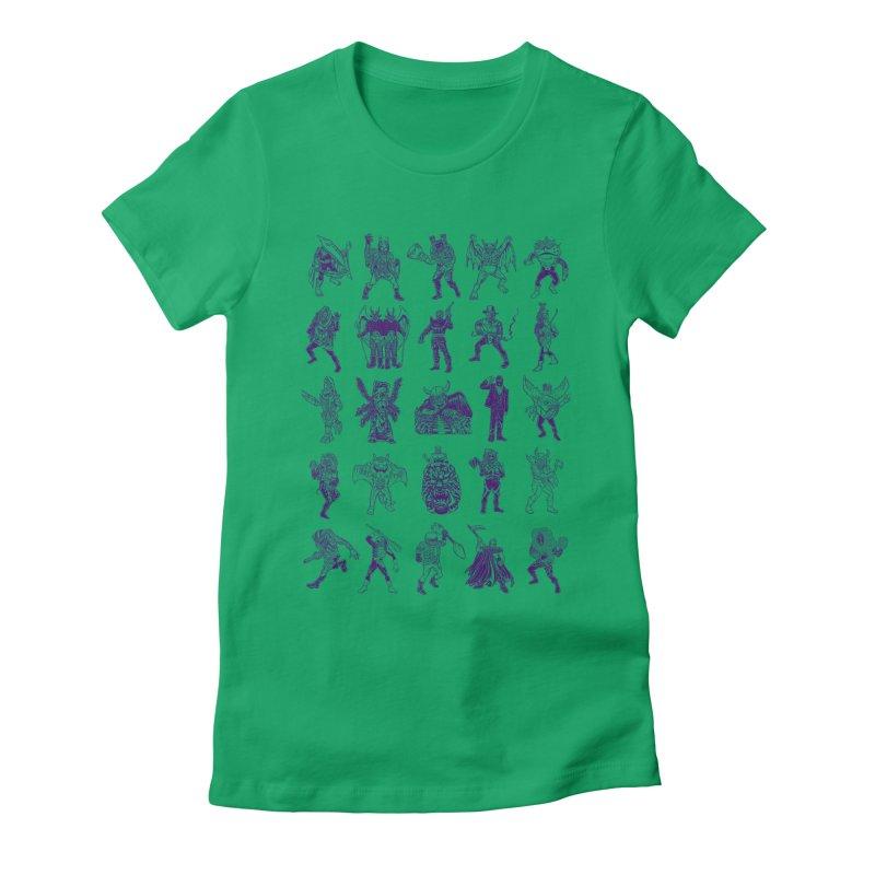 Toku Villains Women's Fitted T-Shirt by JB Roe Artist Shop