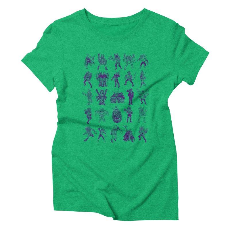 Toku Villains Women's Triblend T-Shirt by JB Roe Artist Shop