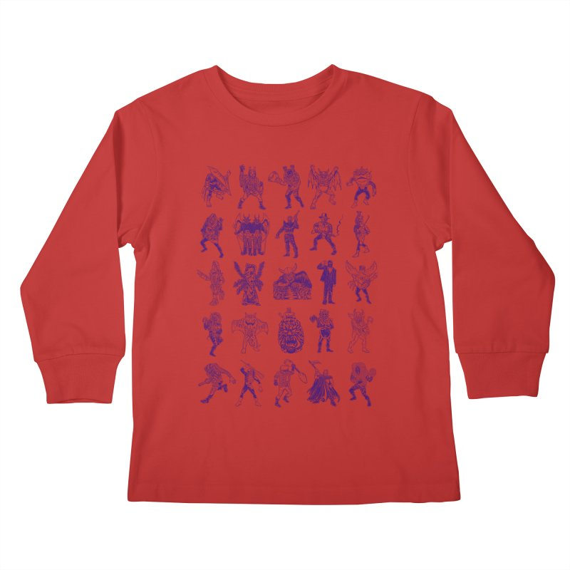 Toku Villains Kids Longsleeve T-Shirt by JB Roe Artist Shop