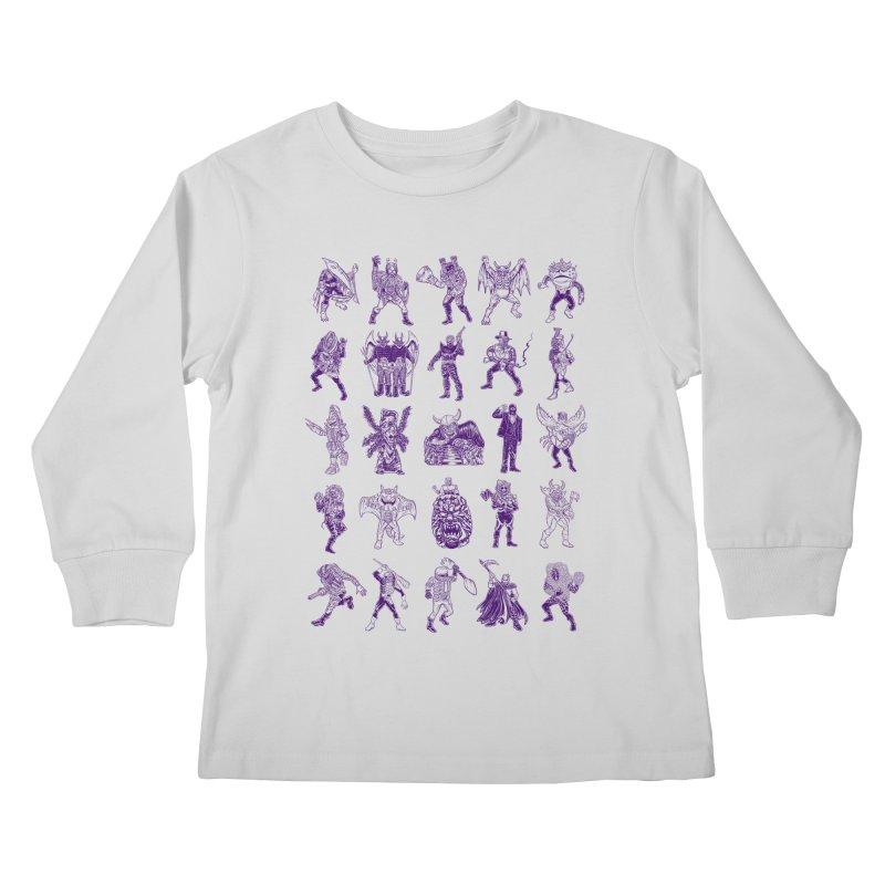Toku Villains Kids Longsleeve T-Shirt by JB Roe Artist Shop
