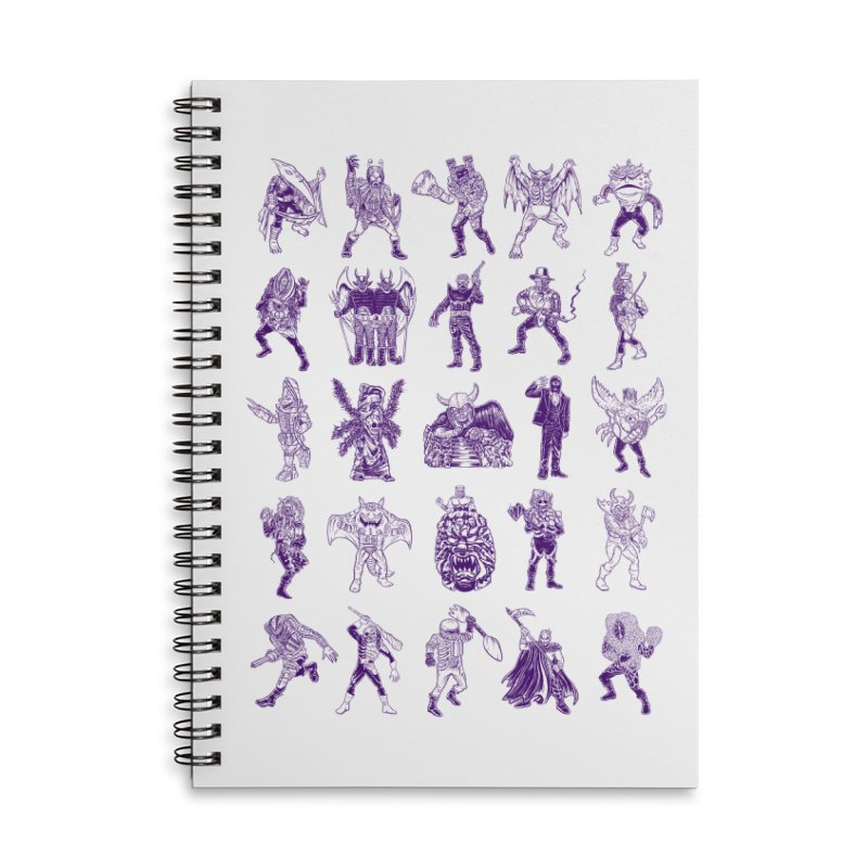 Toku Villains Accessories Lined Spiral Notebook by JB Roe Artist Shop