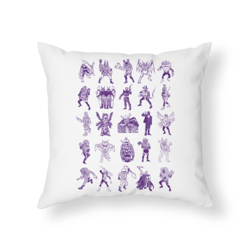 Toku Villains Home Throw Pillow by JB Roe Artist Shop