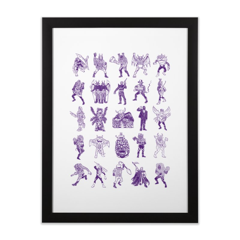 Toku Villains Home Framed Fine Art Print by JB Roe Artist Shop