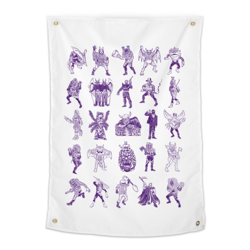 Toku Villains Home Tapestry by JB Roe Artist Shop