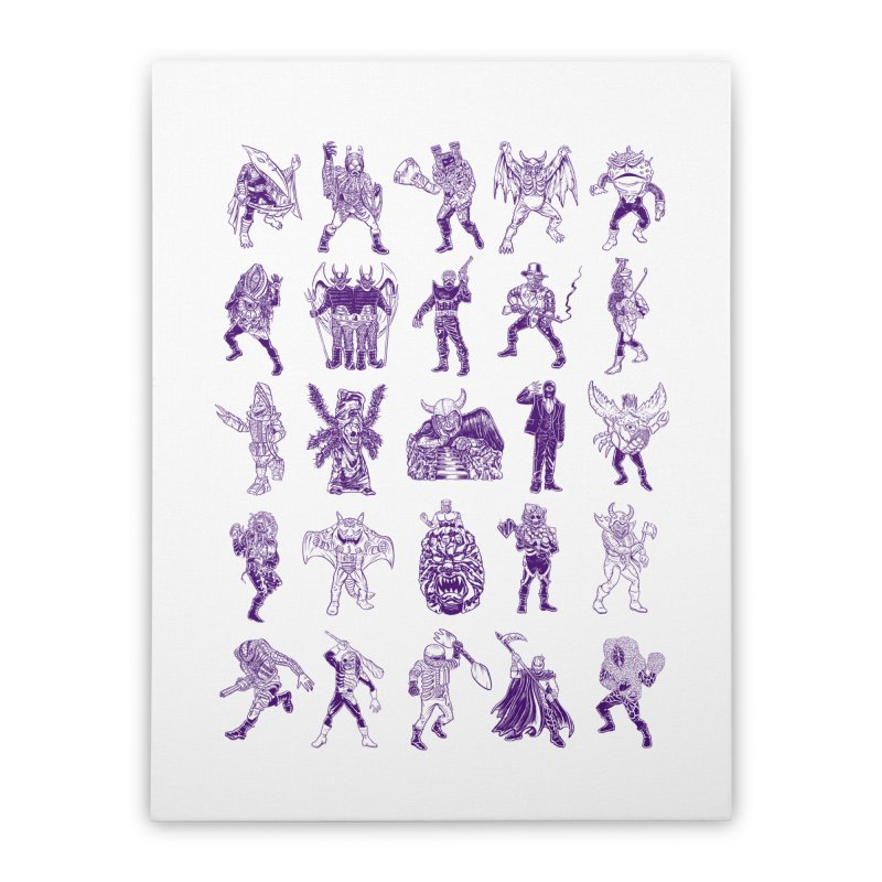 Toku Villains Home Stretched Canvas by JB Roe Artist Shop