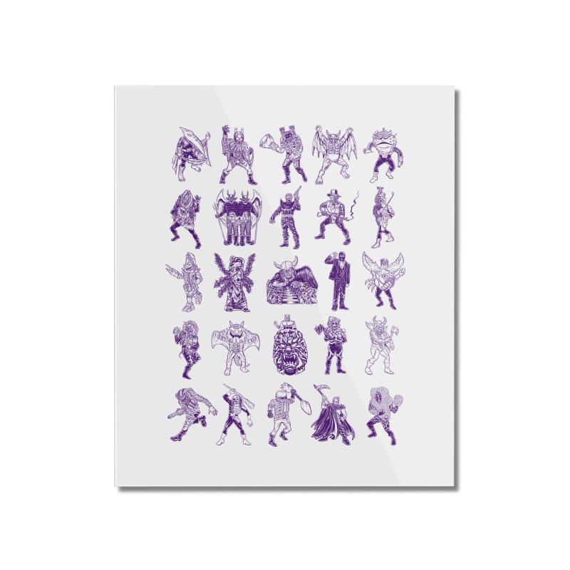 Toku Villains Home Mounted Acrylic Print by JB Roe Artist Shop