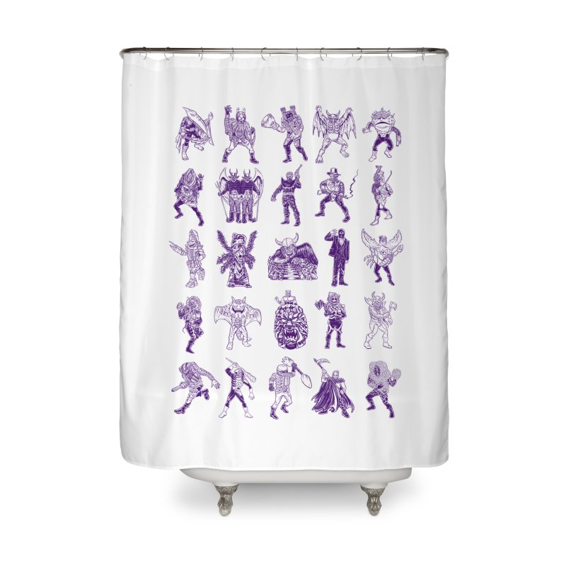 Toku Villains Home Shower Curtain by JB Roe Artist Shop