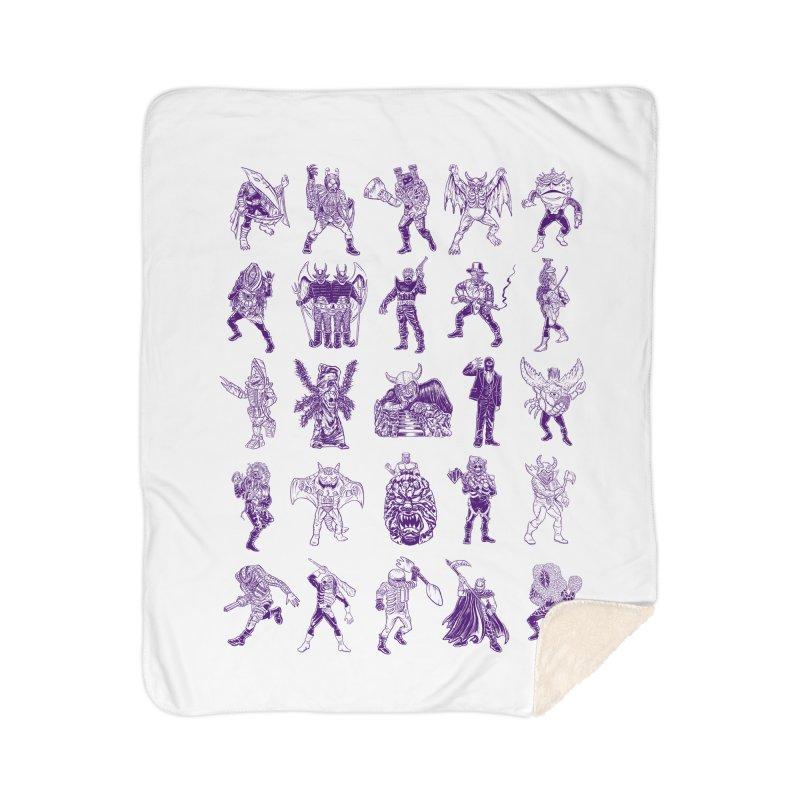 Toku Villains Home Sherpa Blanket Blanket by JB Roe Artist Shop