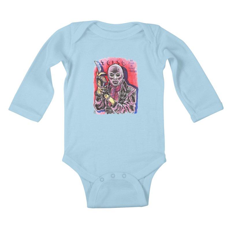 Torso Kids Baby Longsleeve Bodysuit by JB Roe Artist Shop
