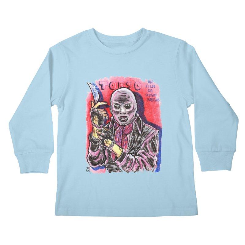 Torso Kids Longsleeve T-Shirt by JB Roe Artist Shop