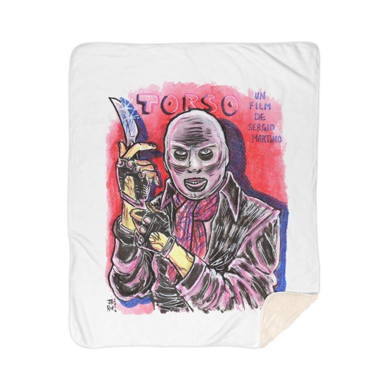 Torso Home Sherpa Blanket Blanket by JB Roe Artist Shop
