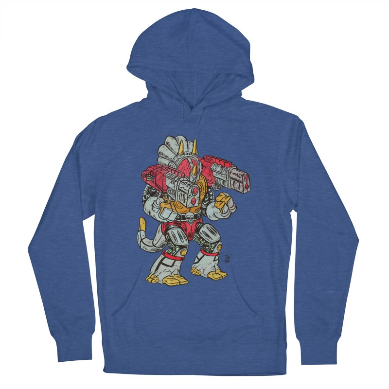 Tricera-Tank Women's French Terry Pullover Hoody by JB Roe Artist Shop