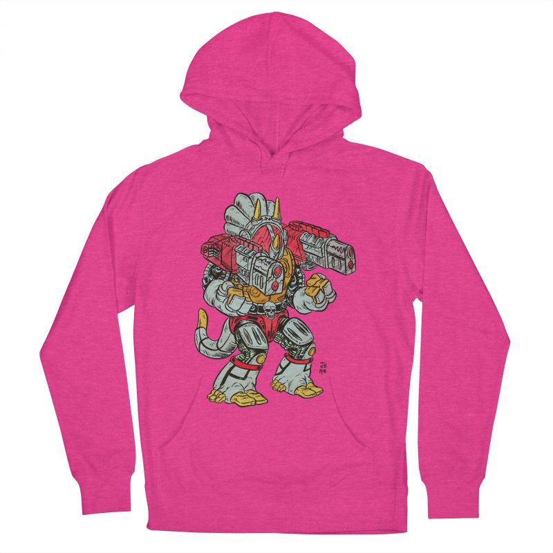 Tricera-Tank Men's French Terry Pullover Hoody by JB Roe Artist Shop