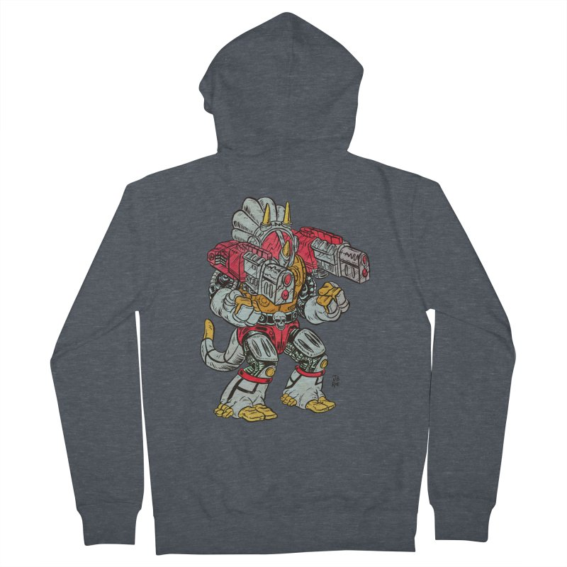 Tricera-Tank Men's French Terry Zip-Up Hoody by JB Roe Artist Shop