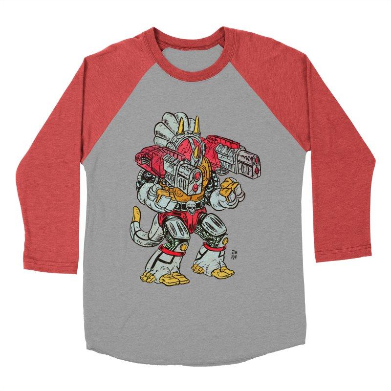 Tricera-Tank Men's Baseball Triblend Longsleeve T-Shirt by JB Roe Artist Shop