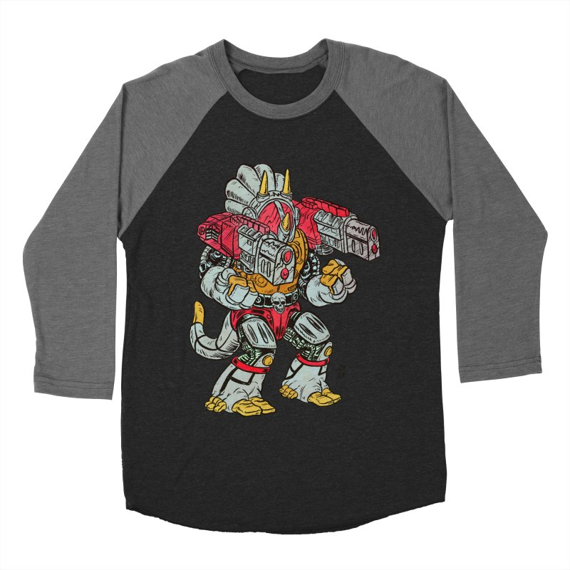 Tricera-Tank Men's Baseball Triblend Longsleeve T-Shirt by JB Roe Artist Shop