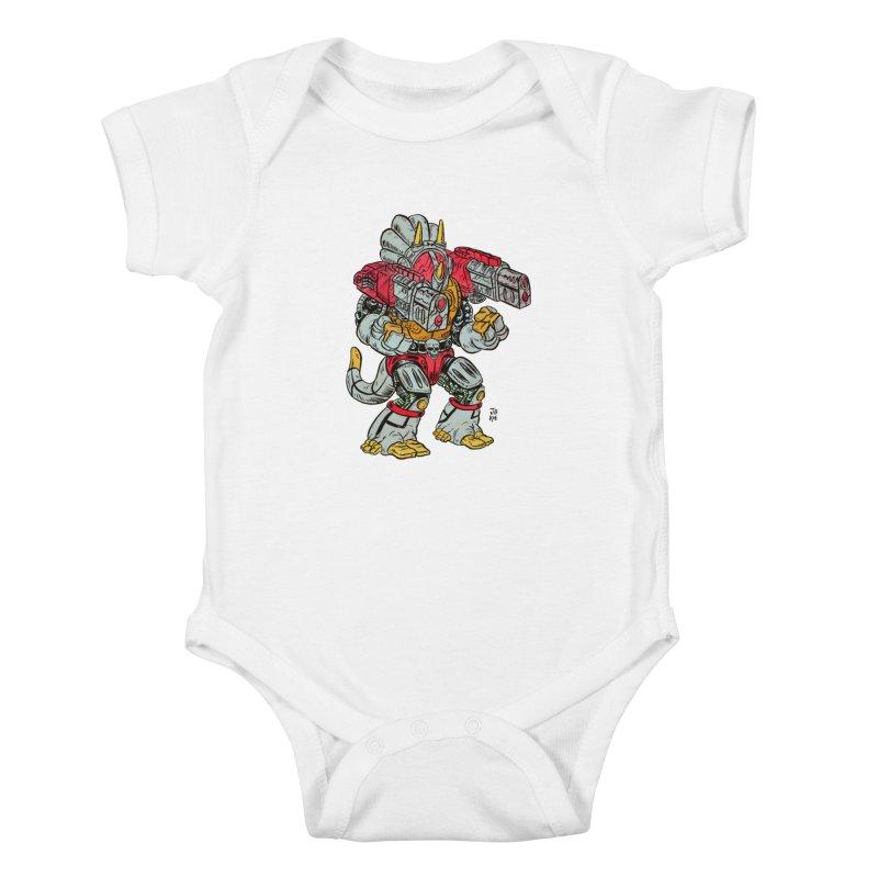 Tricera-Tank Kids Baby Bodysuit by JB Roe Artist Shop