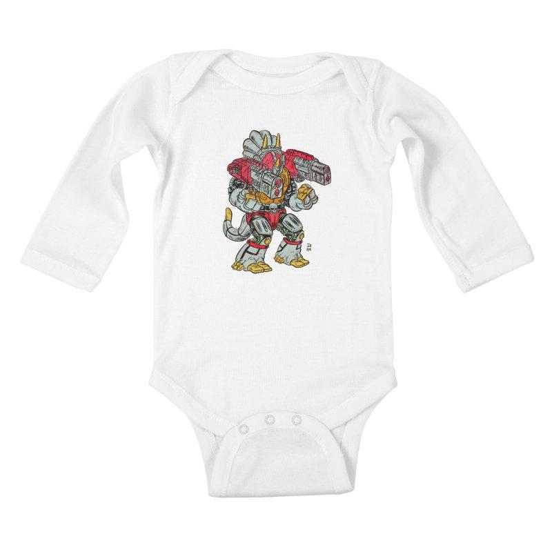 Tricera-Tank Kids Baby Longsleeve Bodysuit by JB Roe Artist Shop