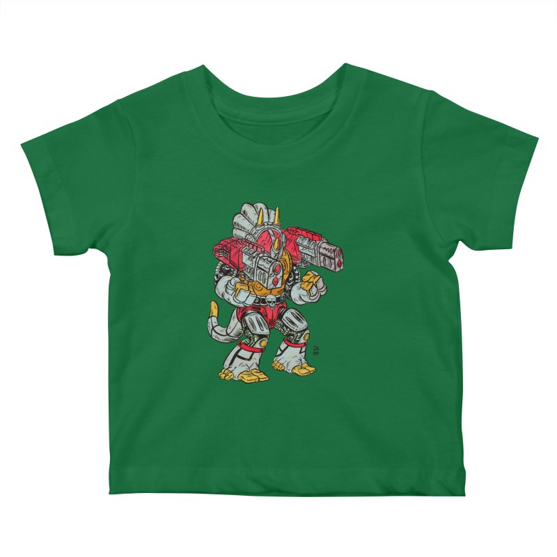 Tricera-Tank Kids Baby T-Shirt by JB Roe Artist Shop
