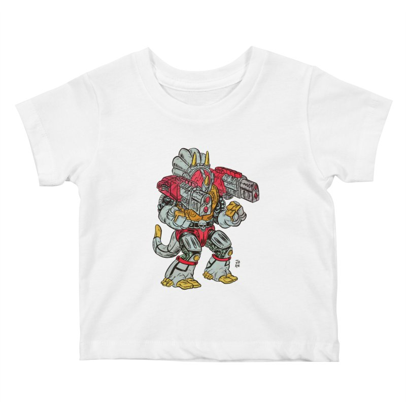 Tricera-Tank Kids Baby T-Shirt by JB Roe Artist Shop