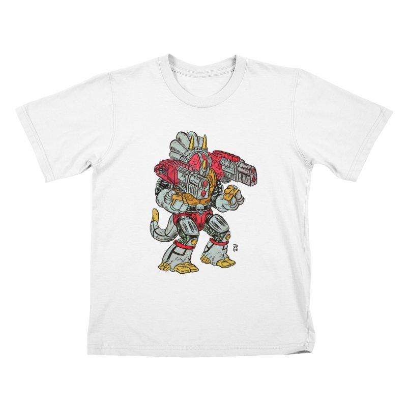 Tricera-Tank Kids T-Shirt by JB Roe Artist Shop