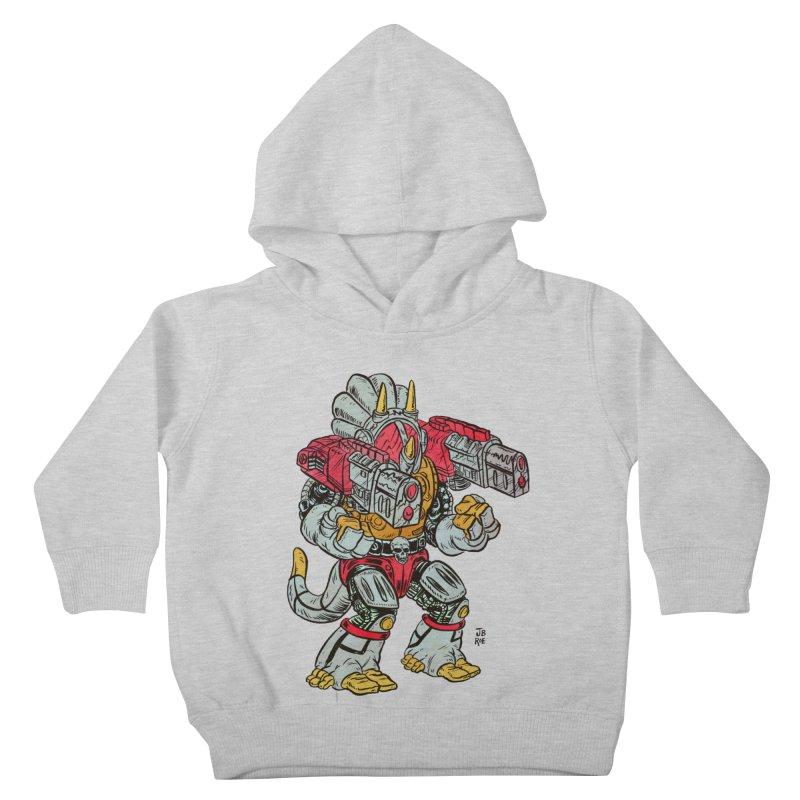 Tricera-Tank Kids Toddler Pullover Hoody by JB Roe Artist Shop