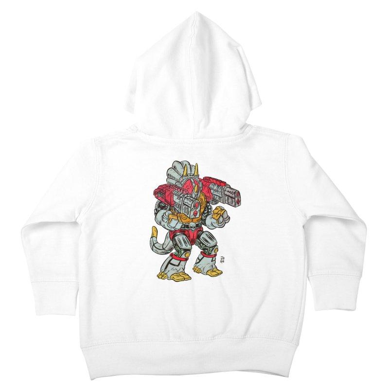Tricera-Tank Kids Toddler Zip-Up Hoody by JB Roe Artist Shop