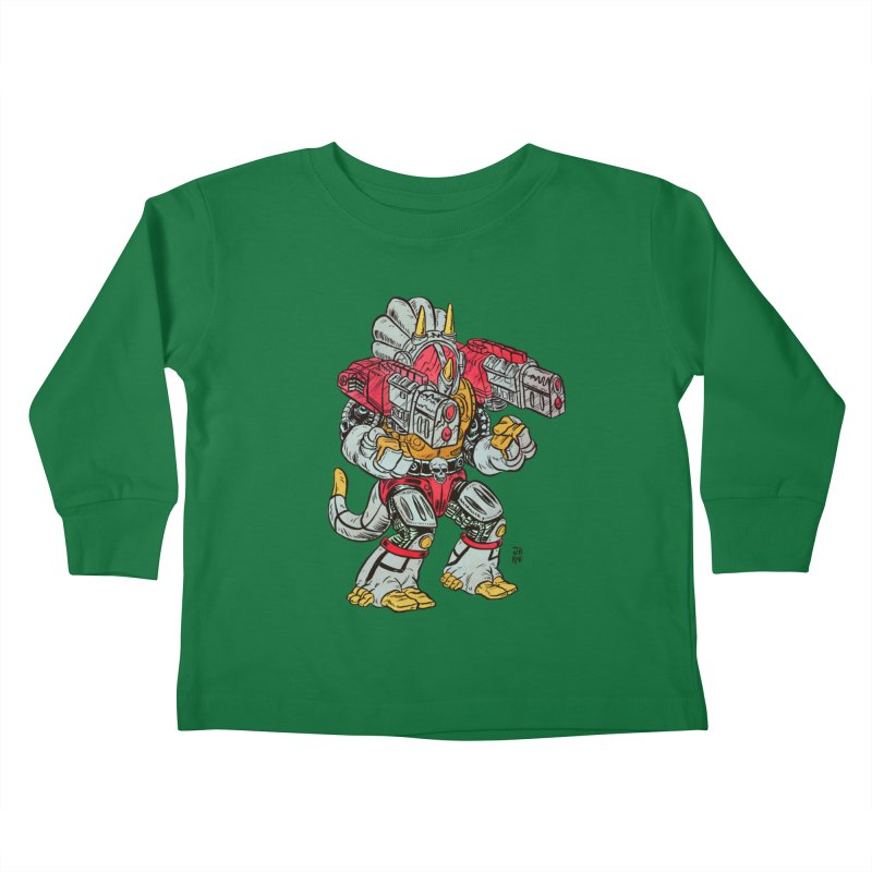 Tricera-Tank Kids Toddler Longsleeve T-Shirt by JB Roe Artist Shop