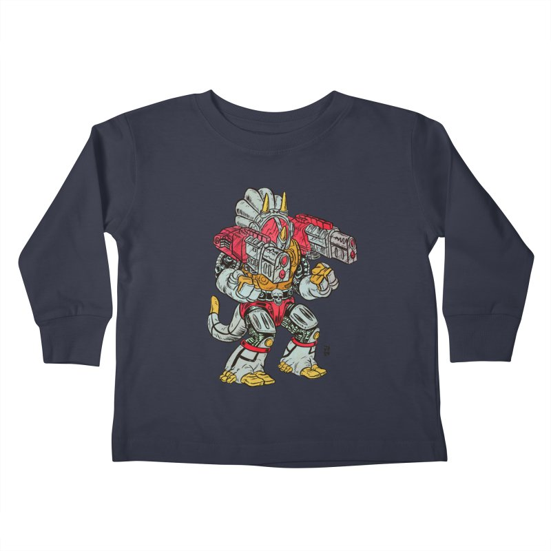 Tricera-Tank Kids Toddler Longsleeve T-Shirt by JB Roe Artist Shop
