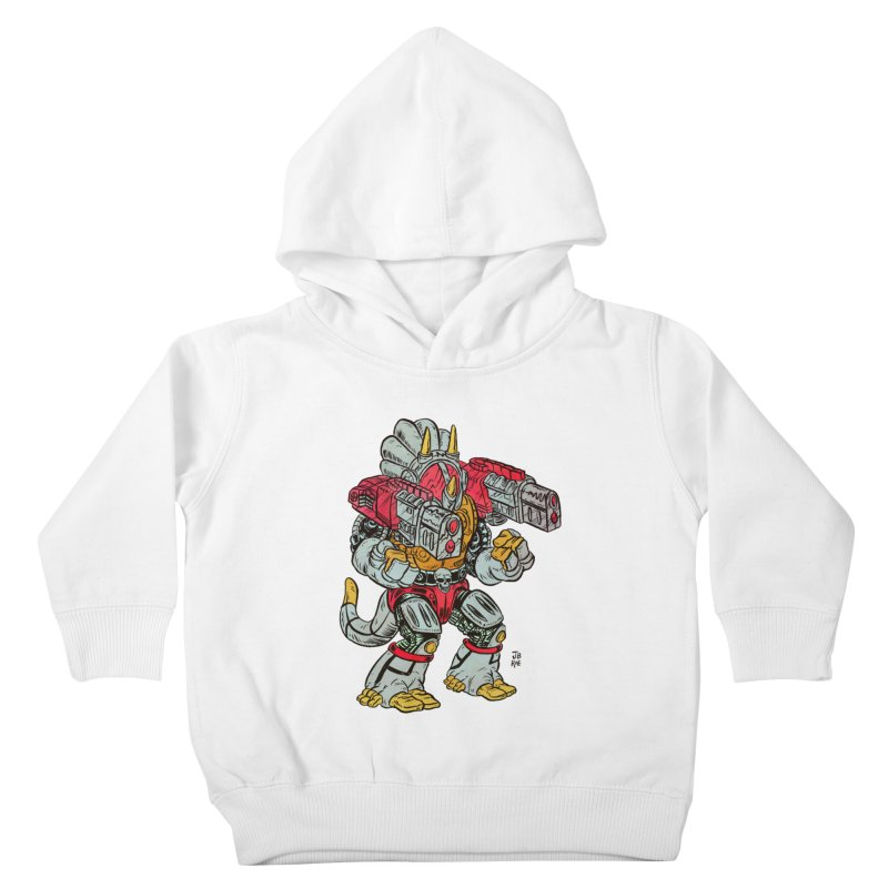 Tricera-Tank Kids Toddler Pullover Hoody by JB Roe Artist Shop