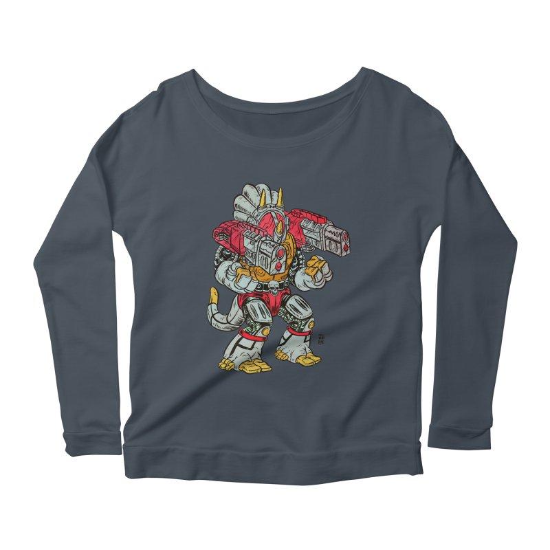 Tricera-Tank Women's Scoop Neck Longsleeve T-Shirt by JB Roe Artist Shop
