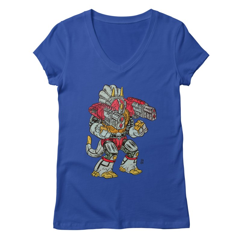 Tricera-Tank Women's Regular V-Neck by JB Roe Artist Shop