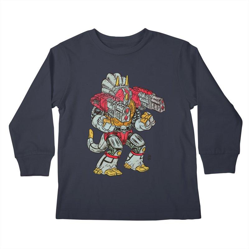 Tricera-Tank Kids Longsleeve T-Shirt by JB Roe Artist Shop