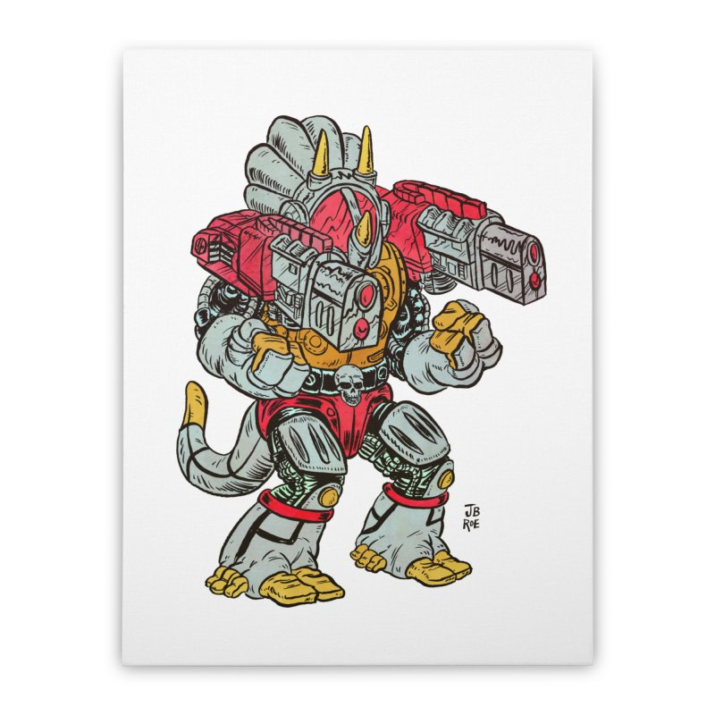 Tricera-Tank Home Stretched Canvas by JB Roe Artist Shop