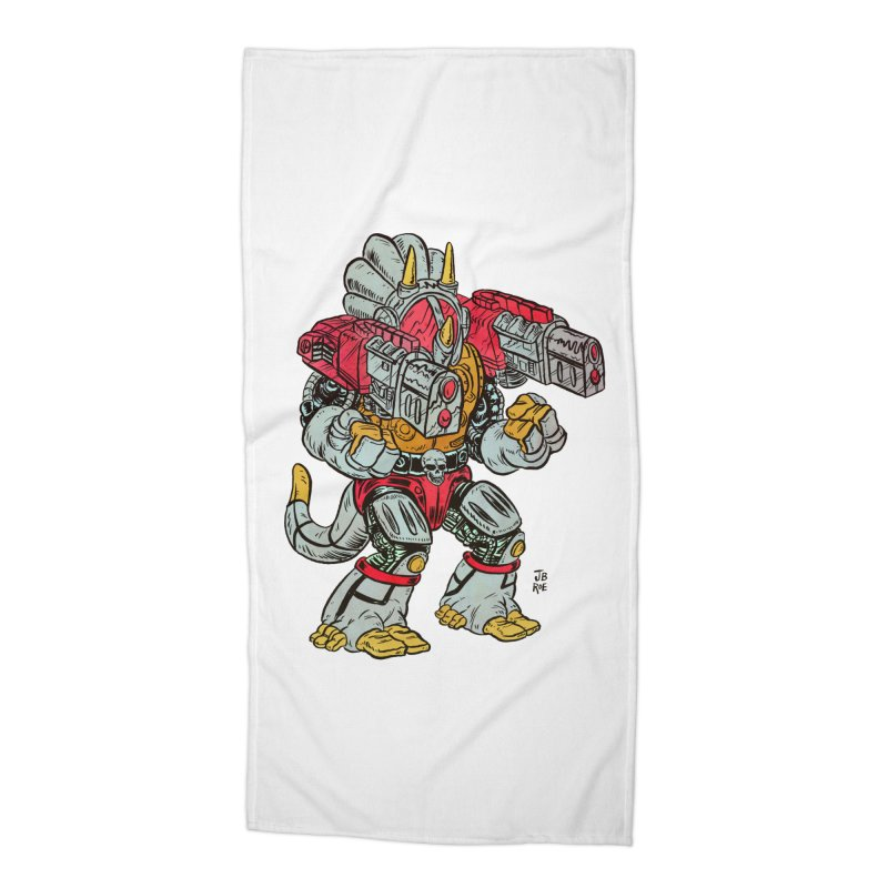 Tricera-Tank Accessories Beach Towel by JB Roe Artist Shop