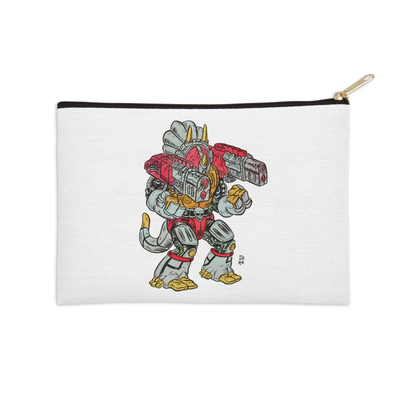 Tricera-Tank Accessories Zip Pouch by JB Roe Artist Shop