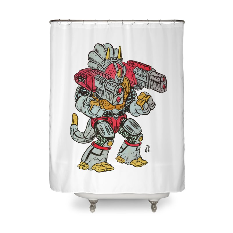 Tricera-Tank Home Shower Curtain by JB Roe Artist Shop