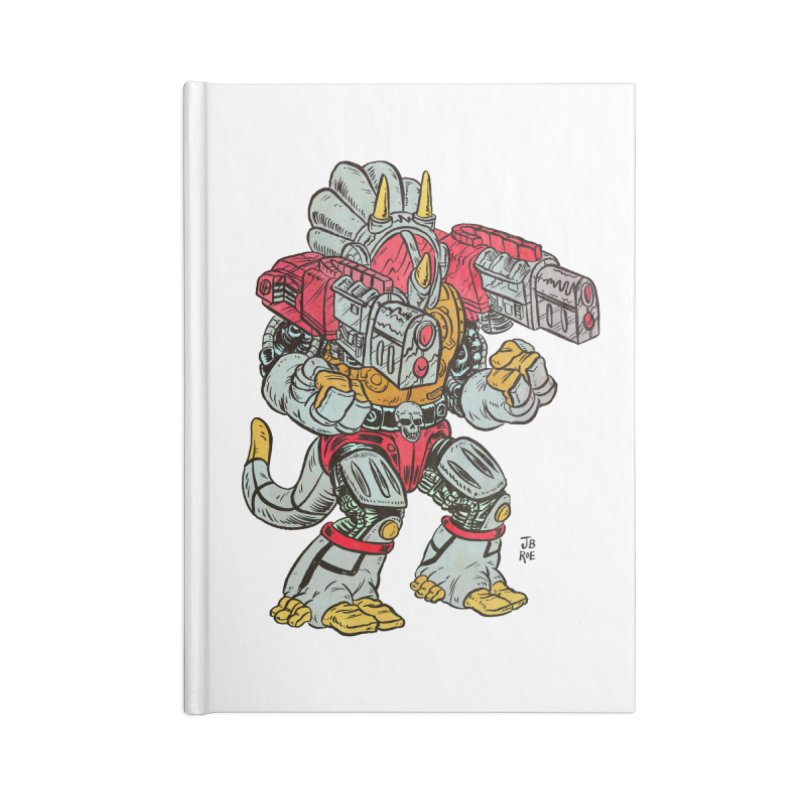 Tricera-Tank Accessories Blank Journal Notebook by JB Roe Artist Shop