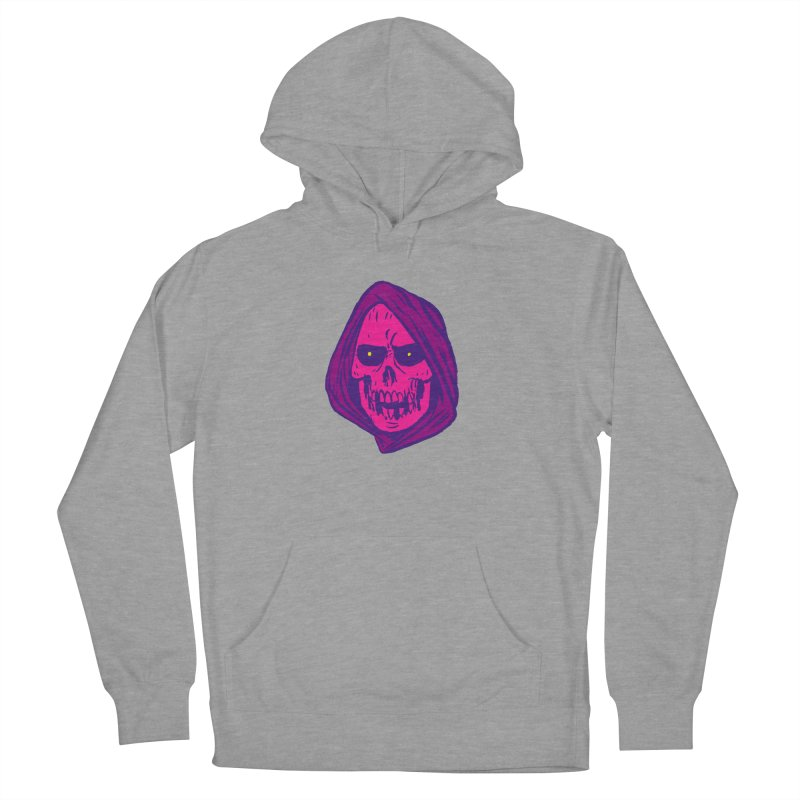 Skull Women's French Terry Pullover Hoody by JB Roe Artist Shop