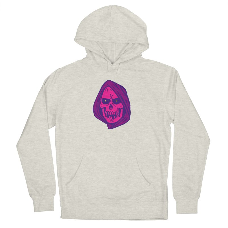 Skull Men's French Terry Pullover Hoody by JB Roe Artist Shop