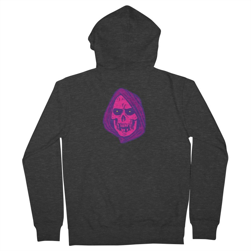 Skull Women's French Terry Zip-Up Hoody by JB Roe Artist Shop